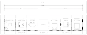 Plan of 2 Bed House