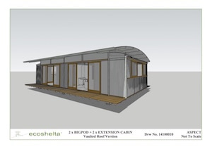 2 e.pod Cabin - Curved Roof