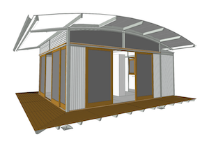 Single e.pod Render - Curved Roof